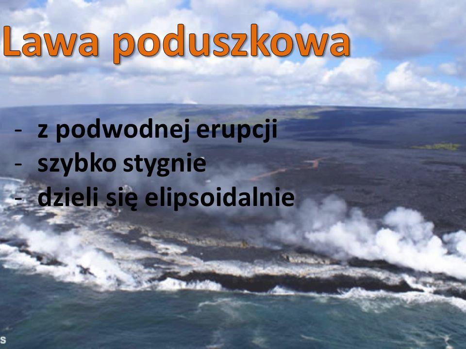 Lawa poduszkowa z podwodnej erupcji szybko stygnie
