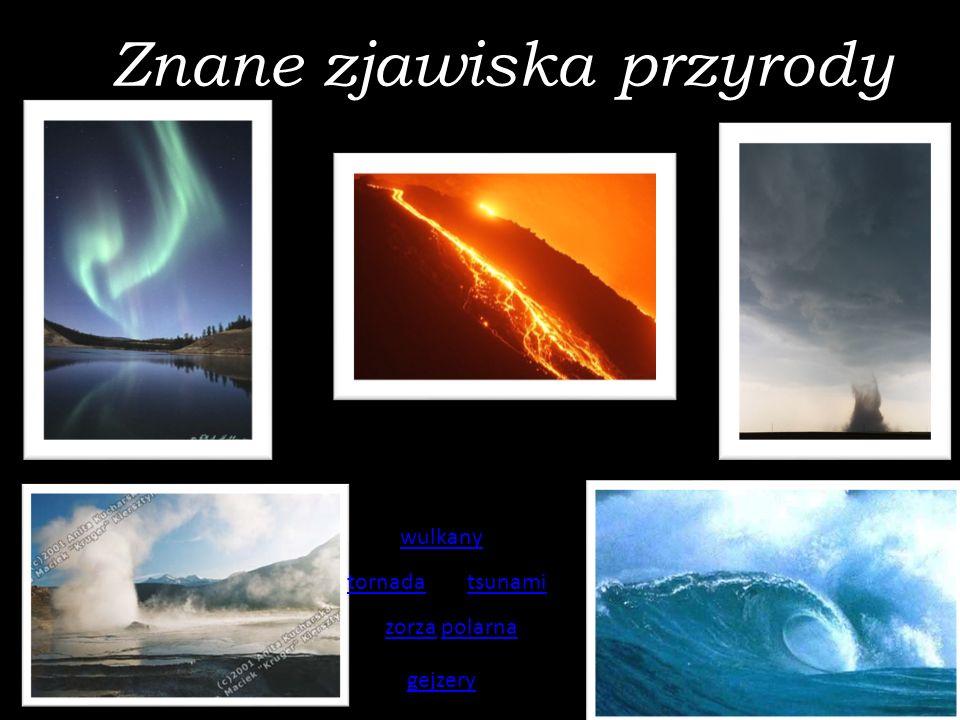 Znane zjawiska przyrody