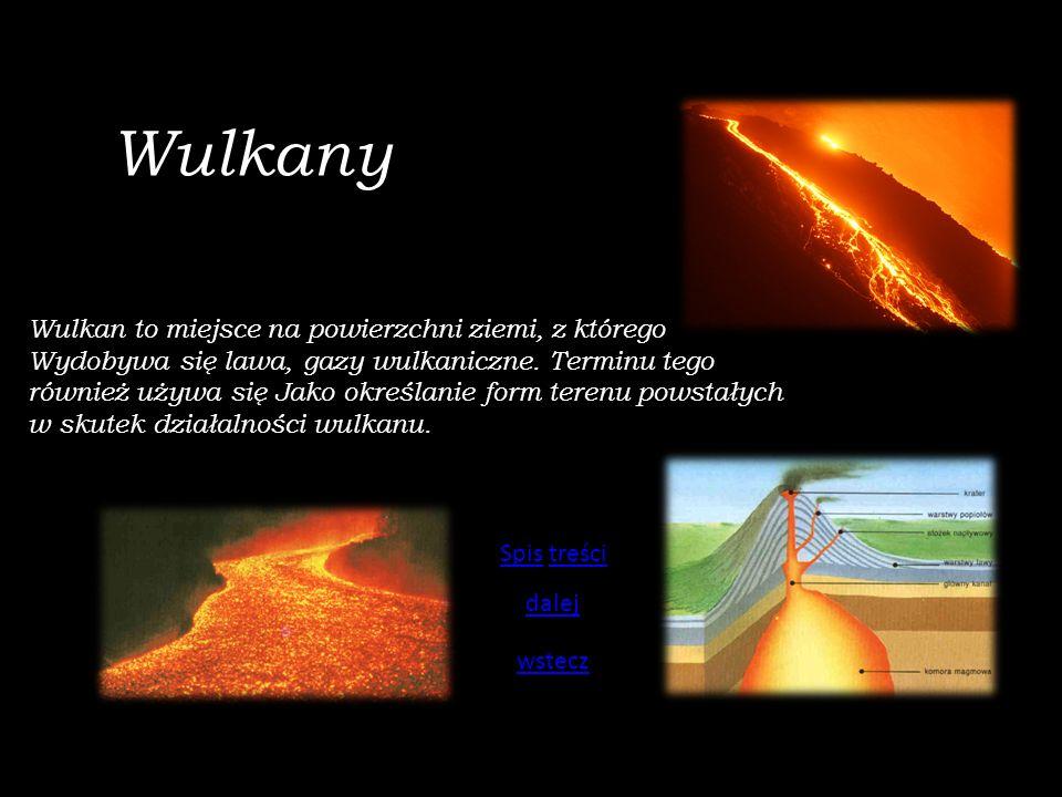 Wulkany Wulkan to miejsce na powierzchni ziemi, z którego