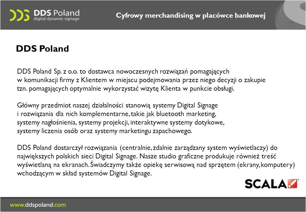 DDS Poland Cyfrowy merchandising w placówce bankowej
