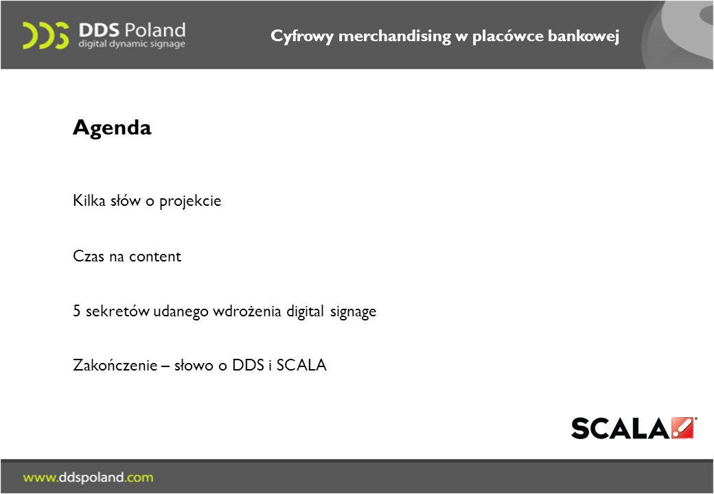 Agenda Cyfrowy merchandising w placówce bankowej