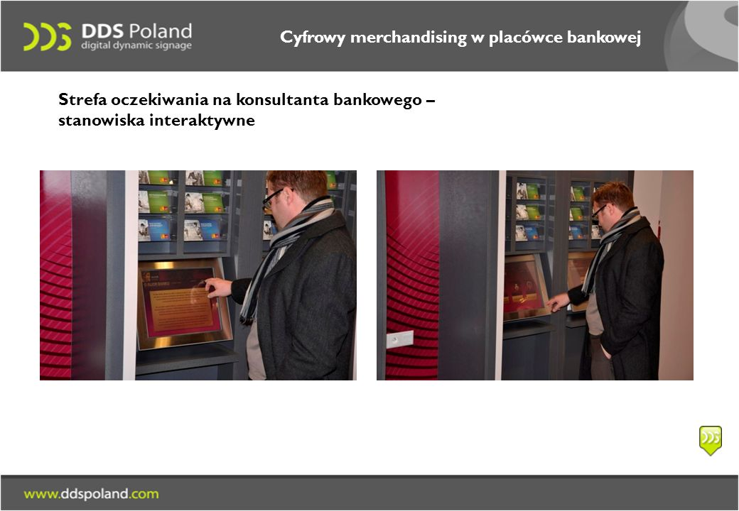 Cyfrowy merchandising w placówce bankowej