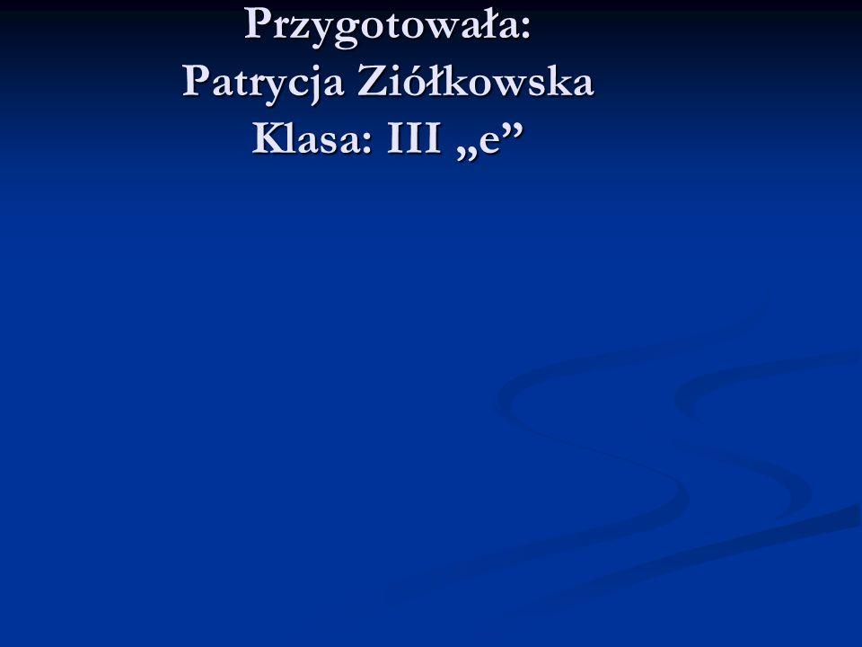 """Przygotowała: Patrycja Ziółkowska Klasa: III """"e"""