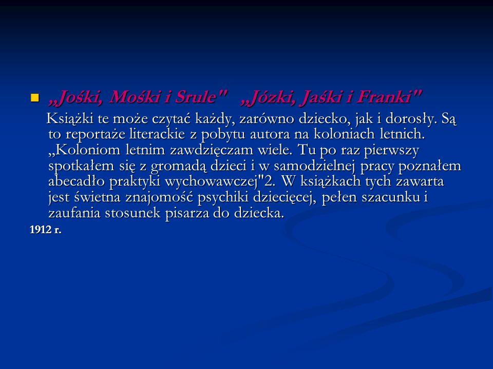 """Jośki, Mośki i Srule ""Józki, Jaśki i Franki"