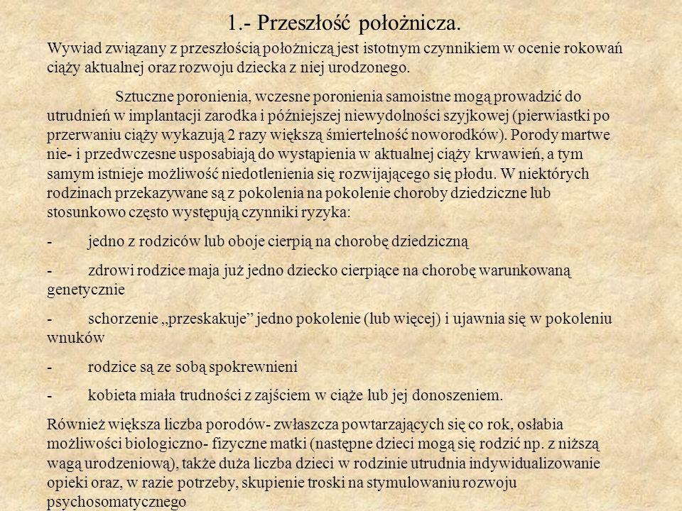 1.- Przeszłość położnicza.