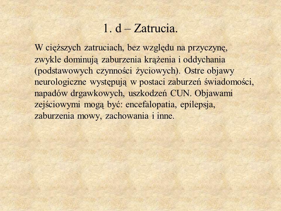 1. d – Zatrucia.