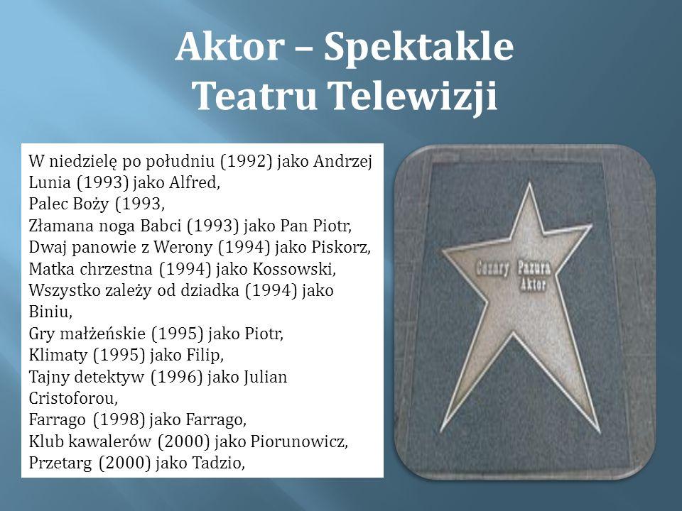 Aktor – Spektakle Teatru Telewizji
