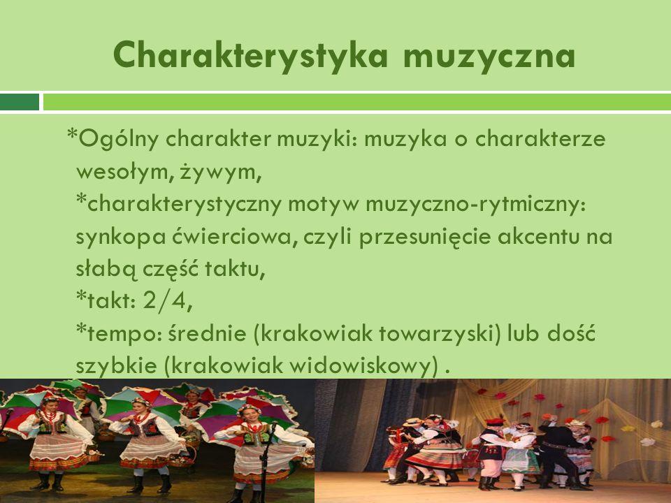 Charakterystyka muzyczna