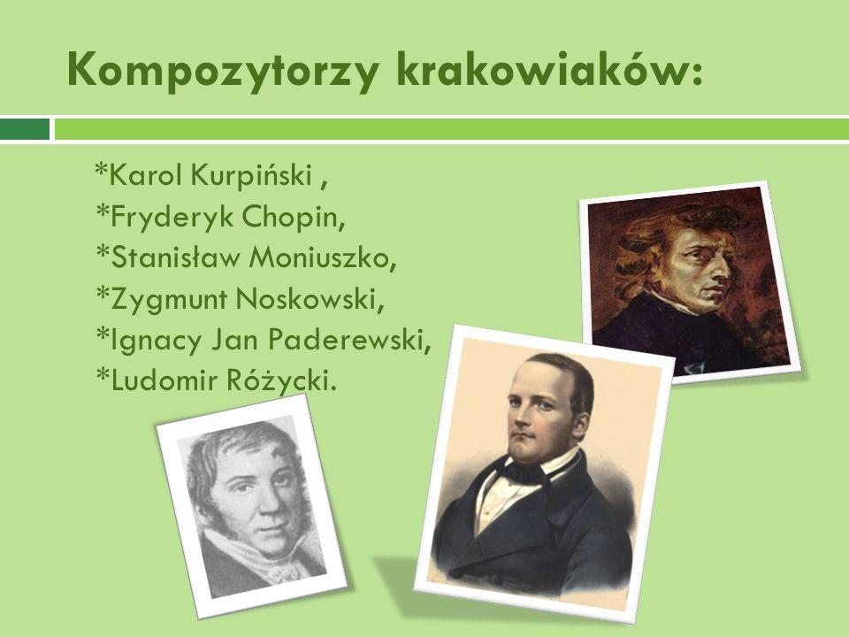 Kompozytorzy krakowiaków:
