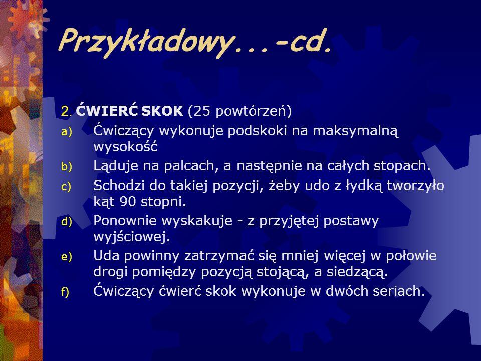 Przykładowy...-cd. 2. ĆWIERĆ SKOK (25 powtórzeń)