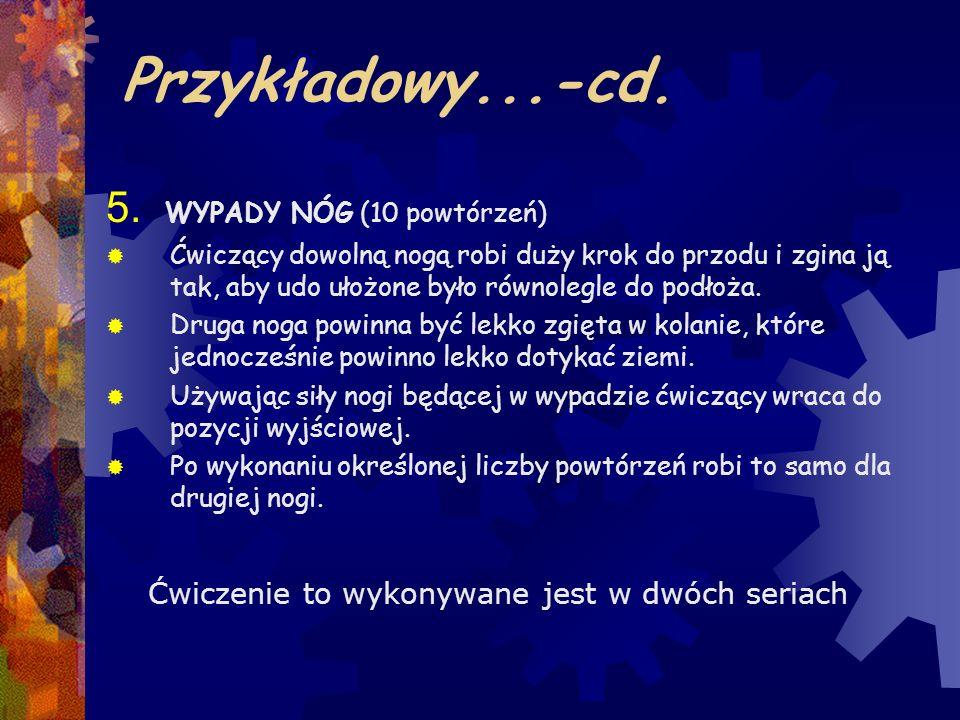 Przykładowy...-cd. 5. WYPADY NÓG (10 powtórzeń)