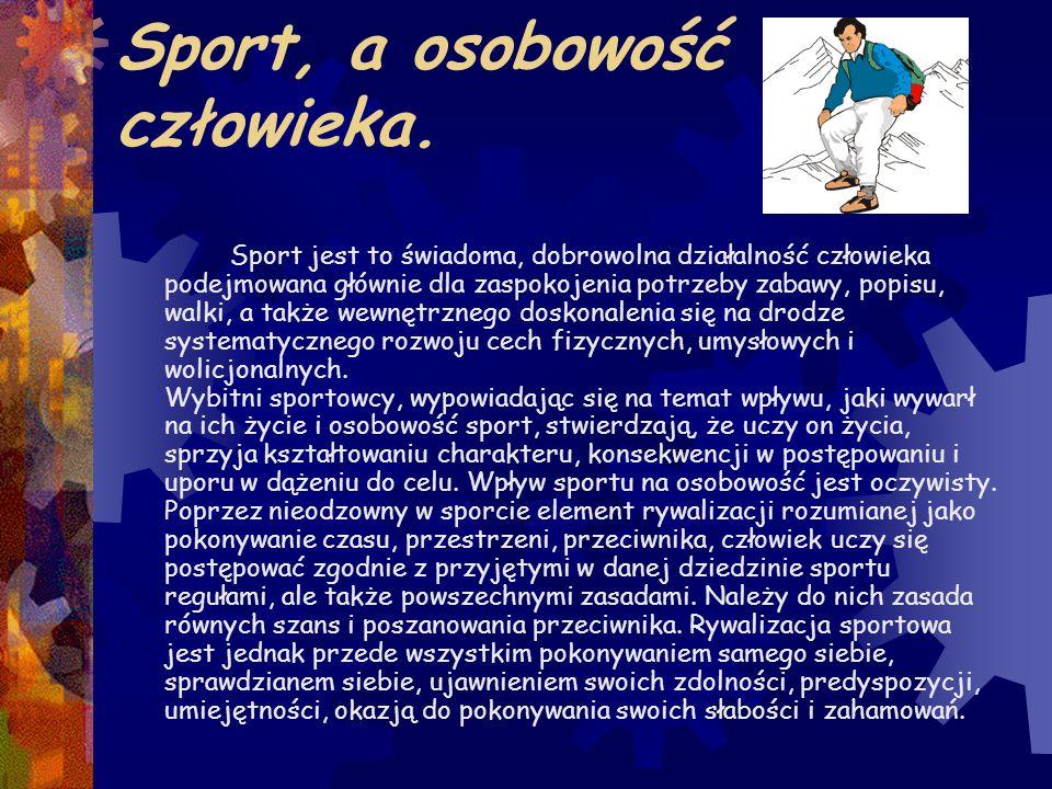 Sport, a osobowość człowieka.