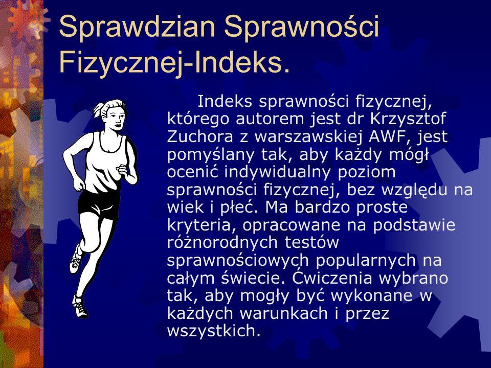 Sprawdzian Sprawności Fizycznej-Indeks.