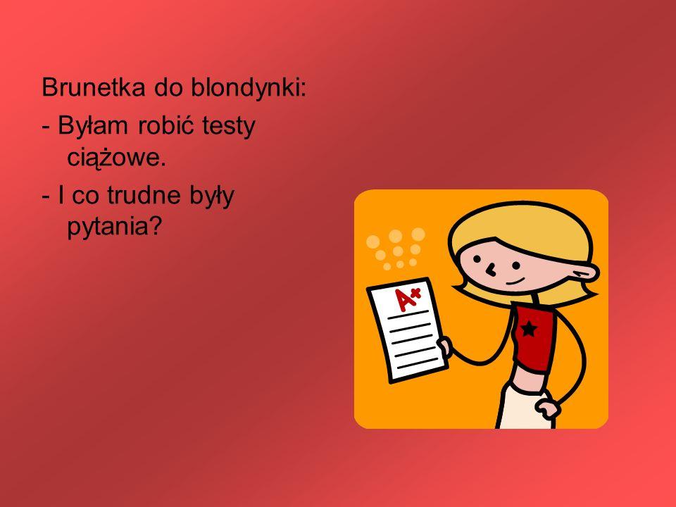 Brunetka do blondynki: