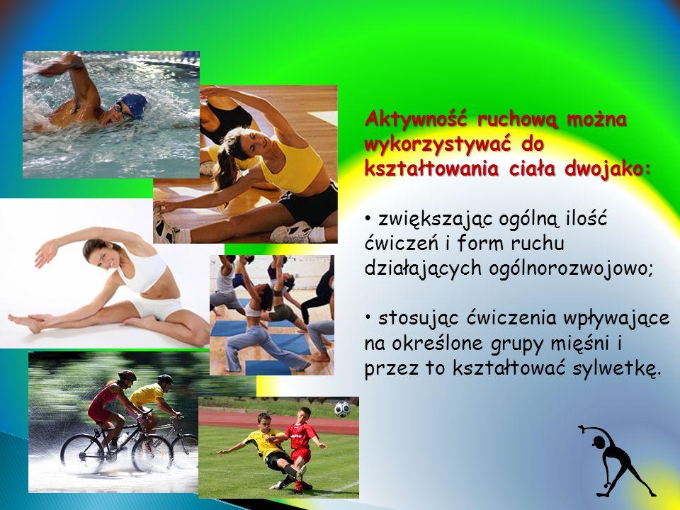 Aktywność ruchową można wykorzystywać do kształtowania ciała dwojako: