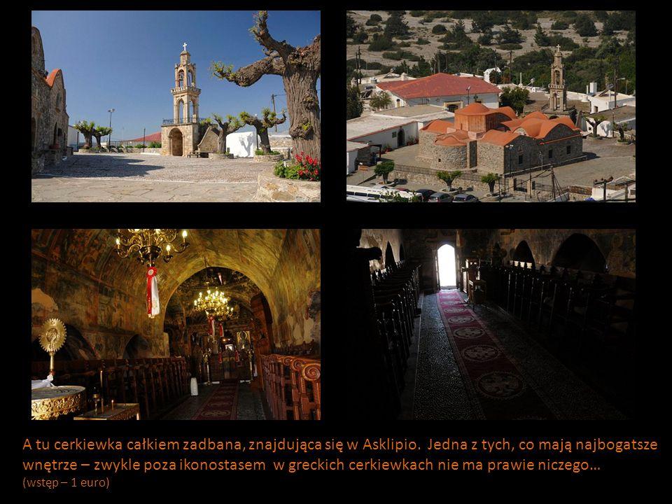 A tu cerkiewka całkiem zadbana, znajdująca się w Asklipio