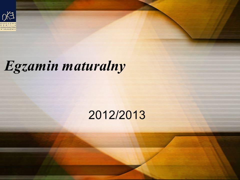 Egzamin maturalny 2012/2013