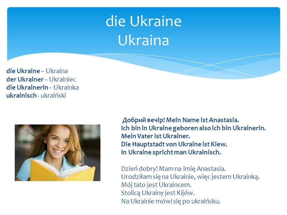 die Ukraine Ukraina