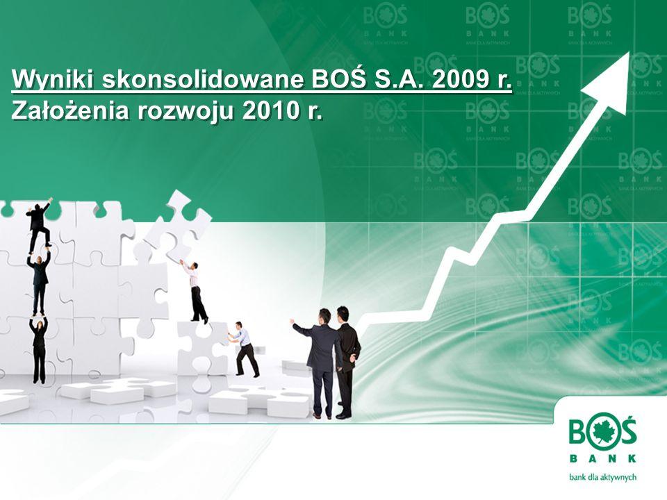 Wyniki skonsolidowane BOŚ S.A. 2009 r. Założenia rozwoju 2010 r.