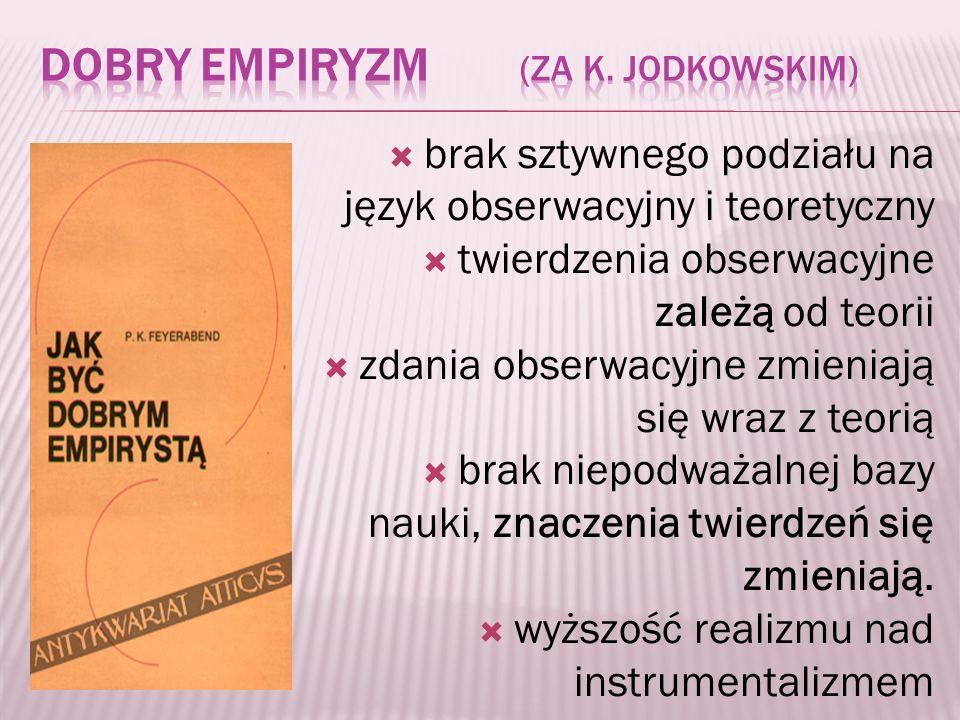 Dobry empiryzm (za K. Jodkowskim)