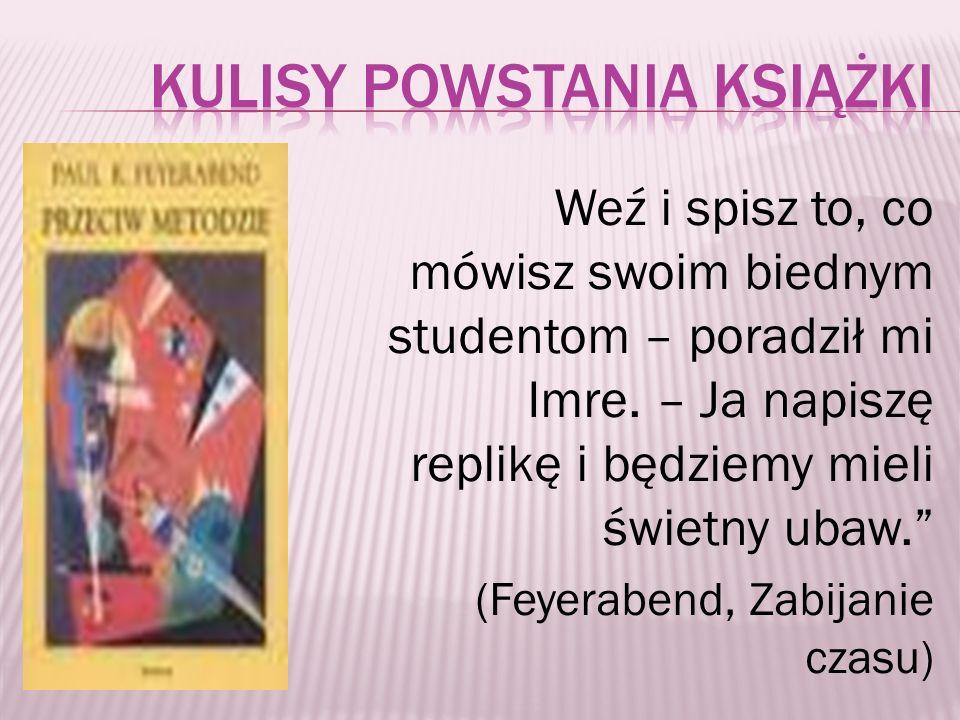 Kulisy powstania książki
