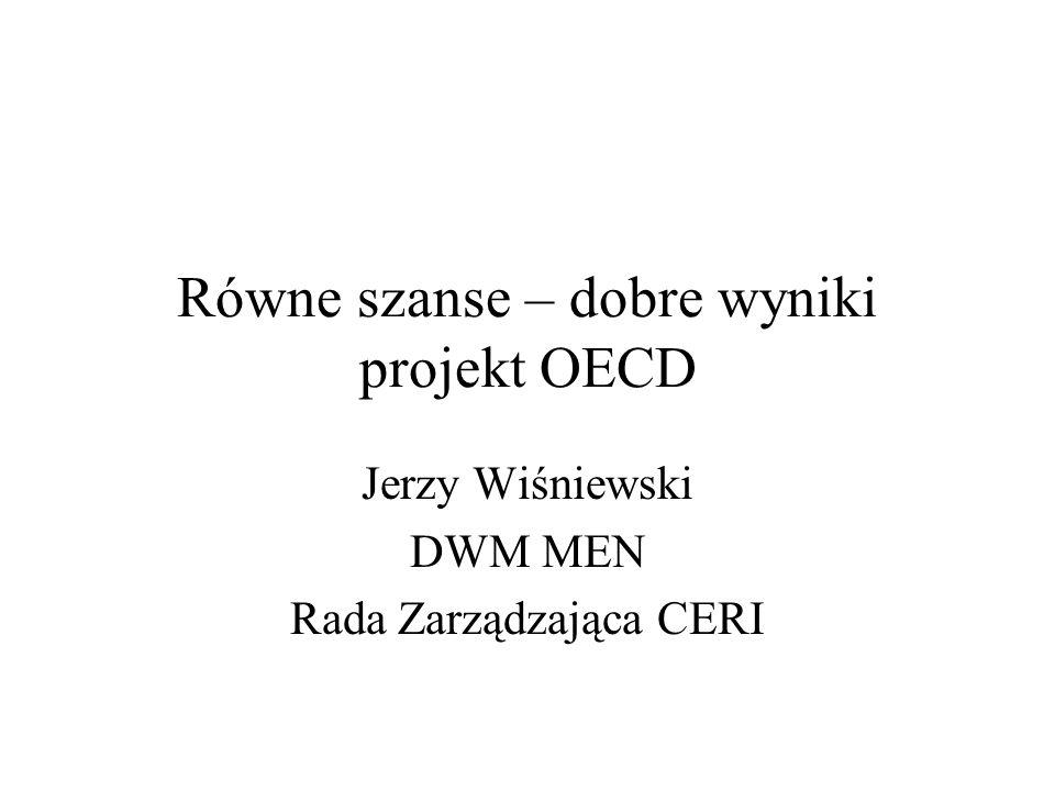 Równe szanse – dobre wyniki projekt OECD