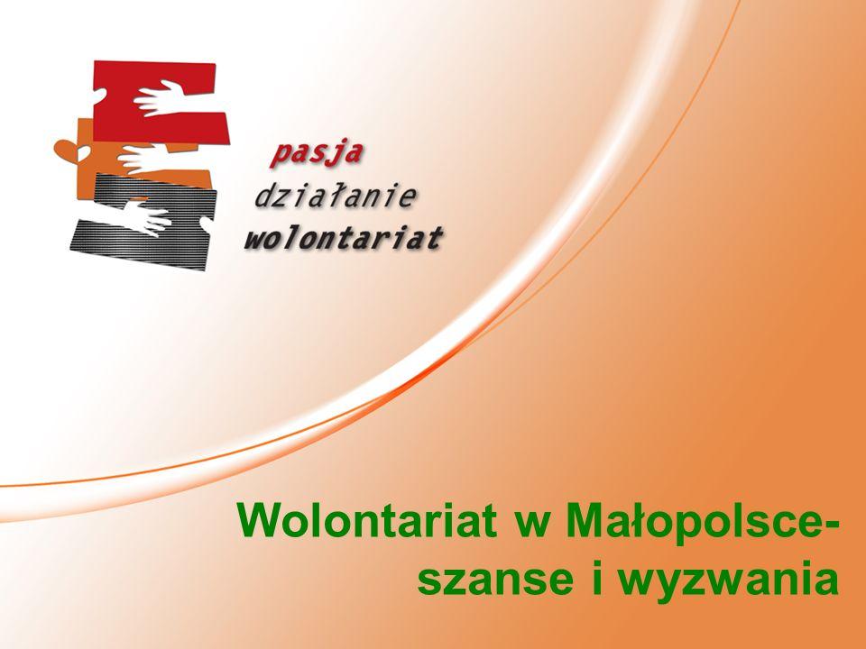 Wolontariat w Małopolsce-szanse i wyzwania