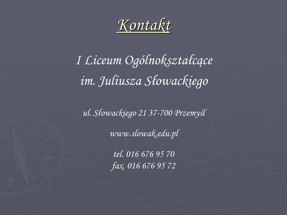 Kontakt I Liceum Ogólnokształcące im. Juliusza Słowackiego