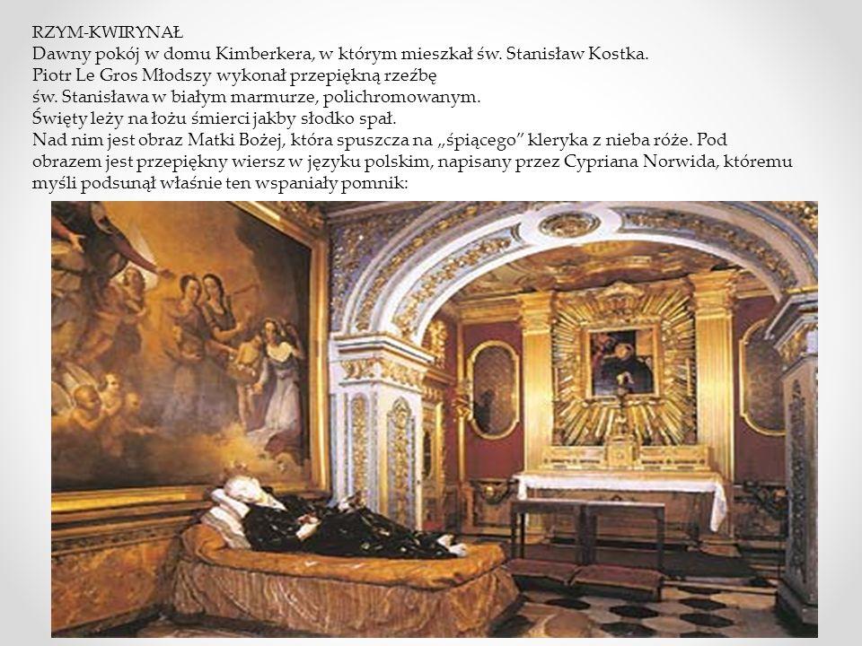 Dawny pokój w domu Kimberkera, w którym mieszkał św. Stanisław Kostka.