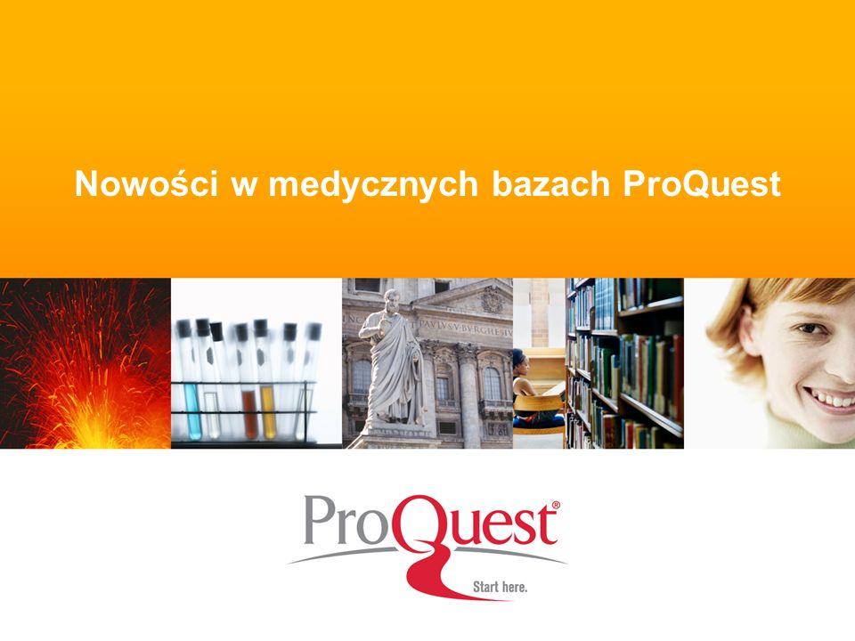 Nowości w medycznych bazach ProQuest