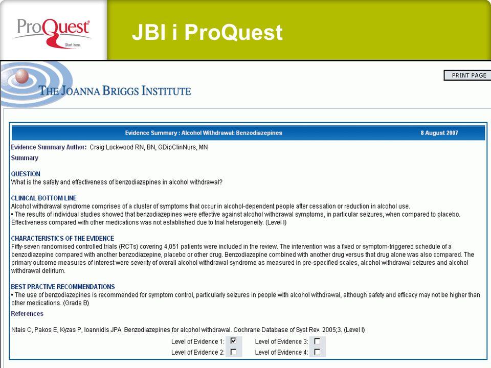 JBI i ProQuest