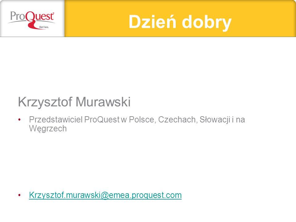 Dzień dobry Krzysztof Murawski