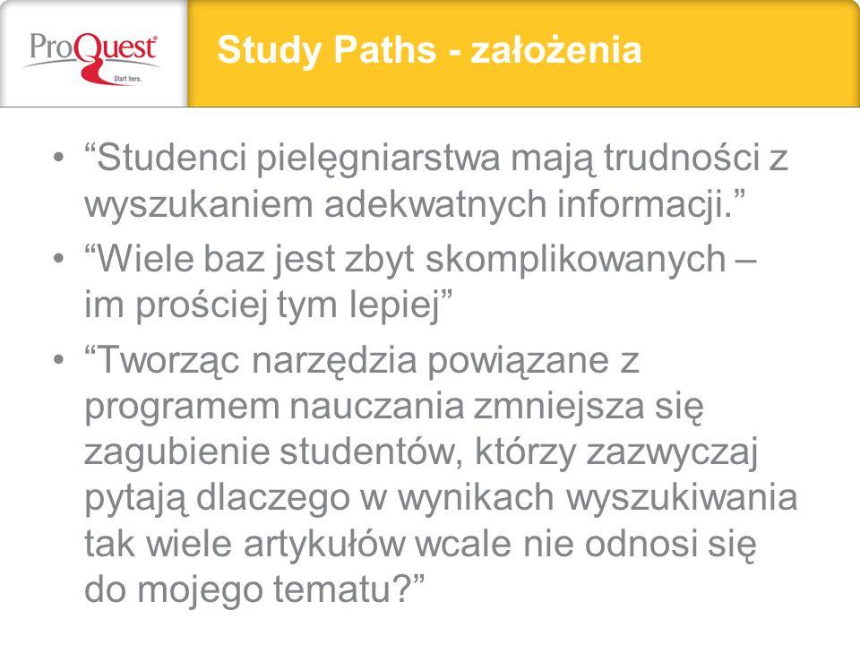 Study Paths - założenia