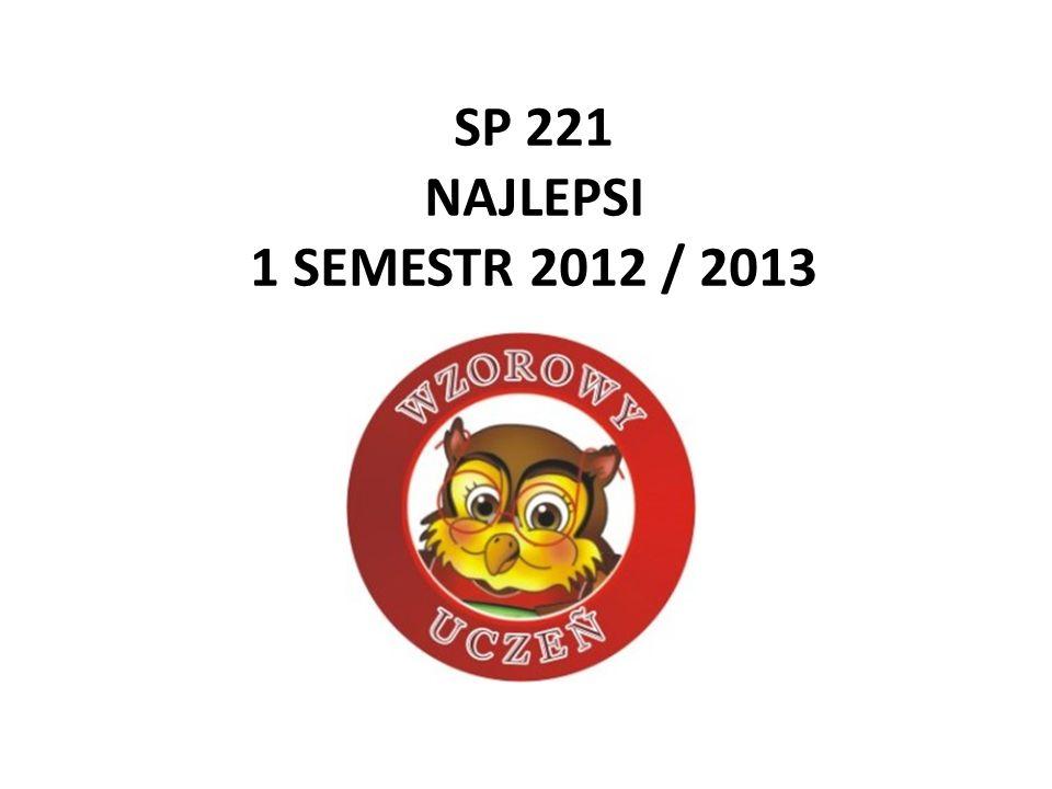 SP 221 NAJLEPSI 1 SEMESTR 2012 / 2013