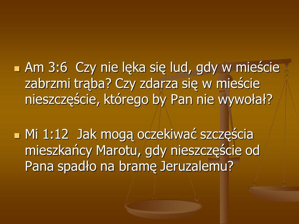 Am 3:6 Czy nie lęka się lud, gdy w mieście zabrzmi trąba