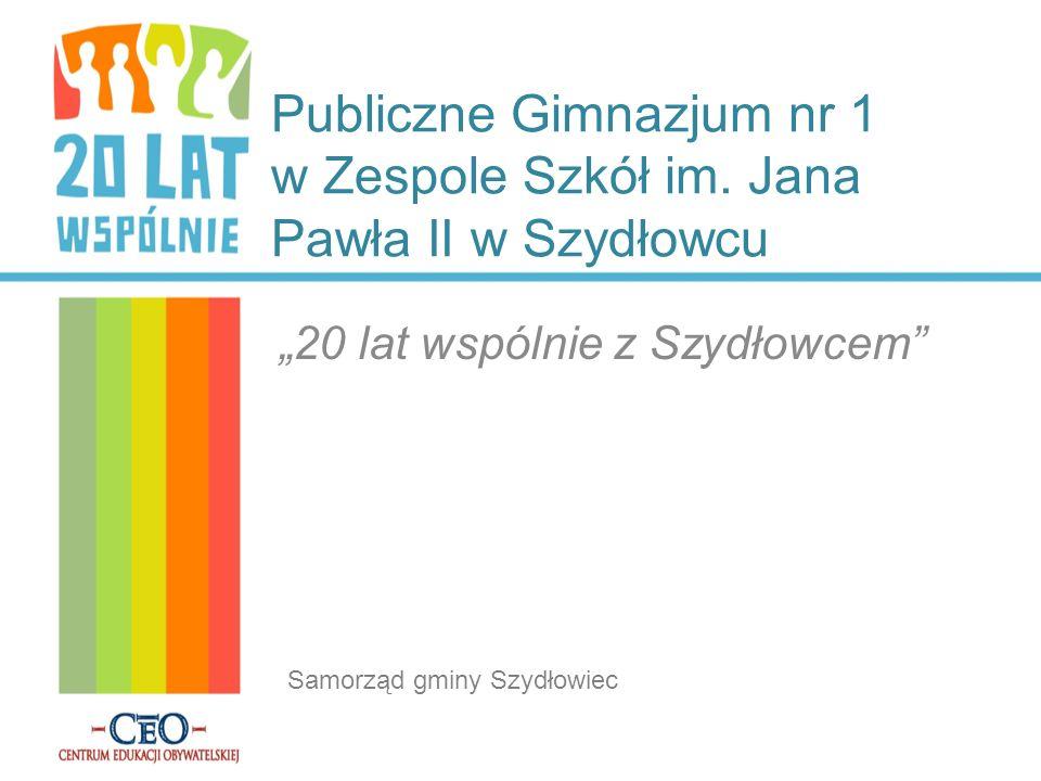 Publiczne Gimnazjum nr 1 w Zespole Szkół im. Jana Pawła II w Szydłowcu