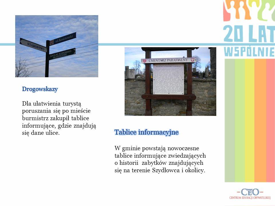 Tablice informacyjne Drogowskazy Dla ułatwienia turystą