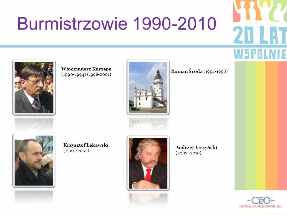 Burmistrzowie 1990-2010 Włodzimierz Kurzępa (1990-1994) (1998-2001)