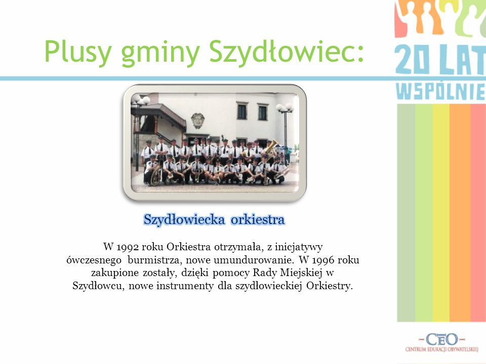 Plusy gminy Szydłowiec: