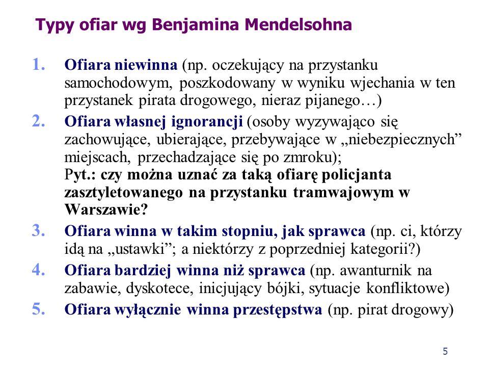 Typy ofiar wg Benjamina Mendelsohna