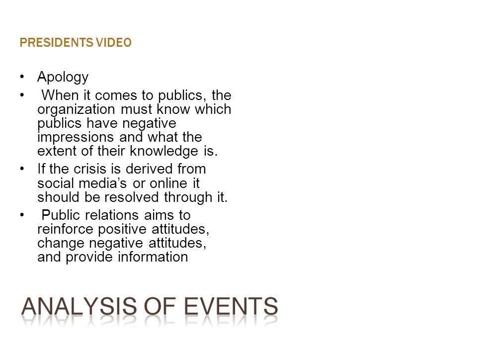 PRESIDENTS VIDEOApology.