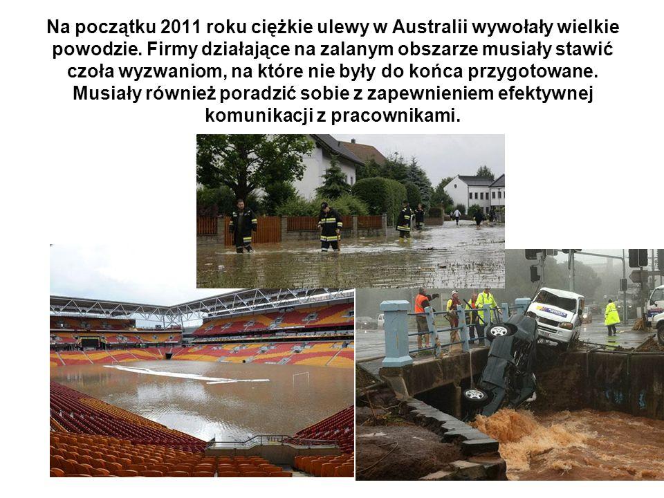 Na początku 2011 roku ciężkie ulewy w Australii wywołały wielkie powodzie.
