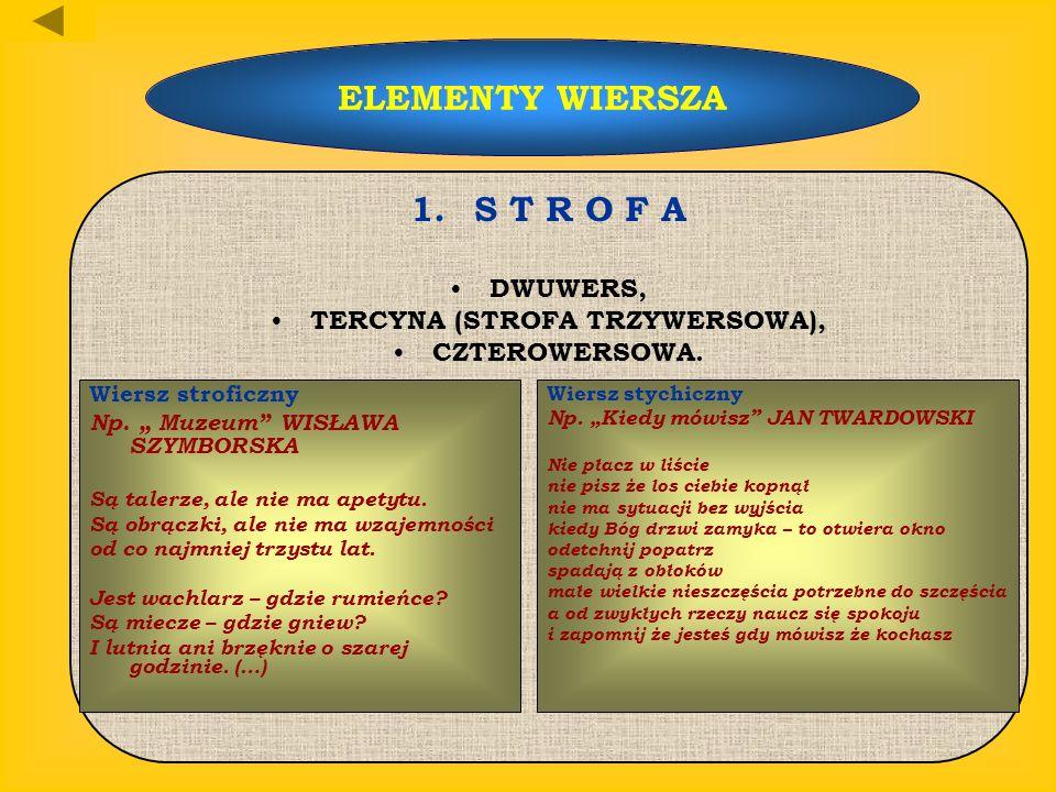 TERCYNA (STROFA TRZYWERSOWA),