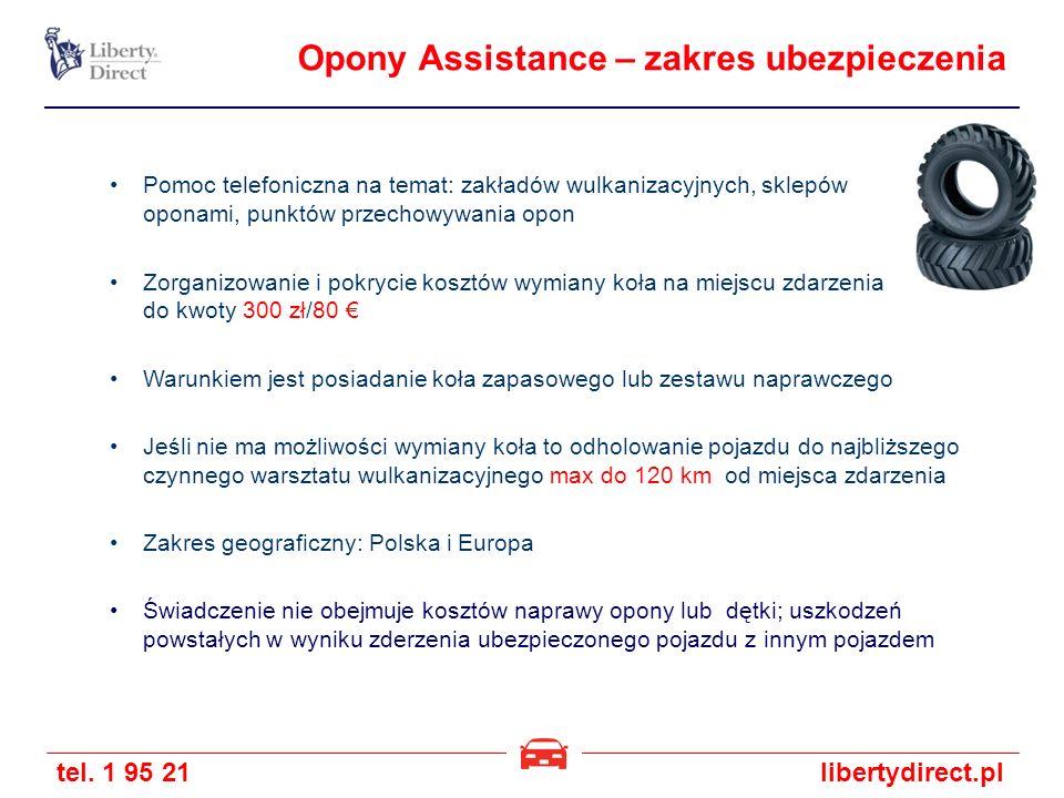 Opony Assistance – zakres ubezpieczenia