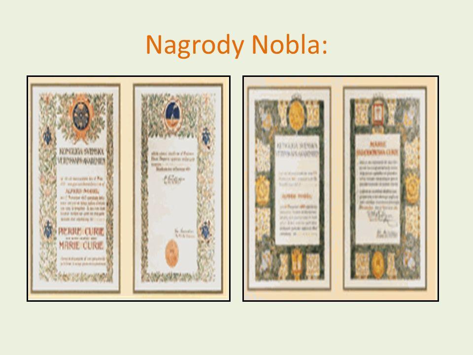 Nagrody Nobla: