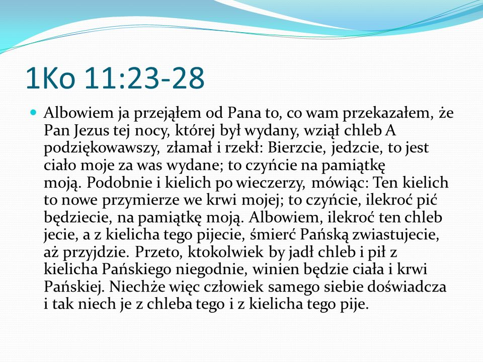 1Ko 11:23-28