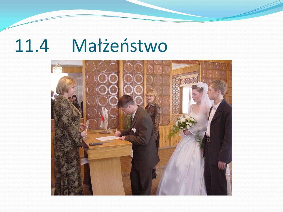 11.4 Małżeństwo