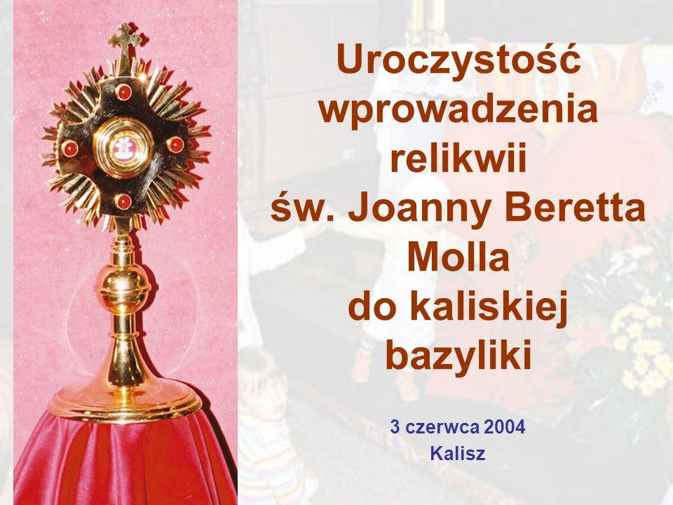 Uroczystość wprowadzenia relikwii św