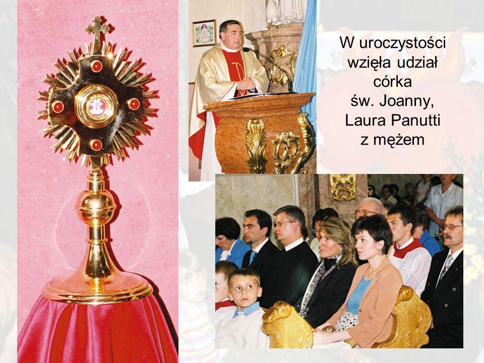 W uroczystości wzięła udział córka św. Joanny, Laura Panutti z mężem