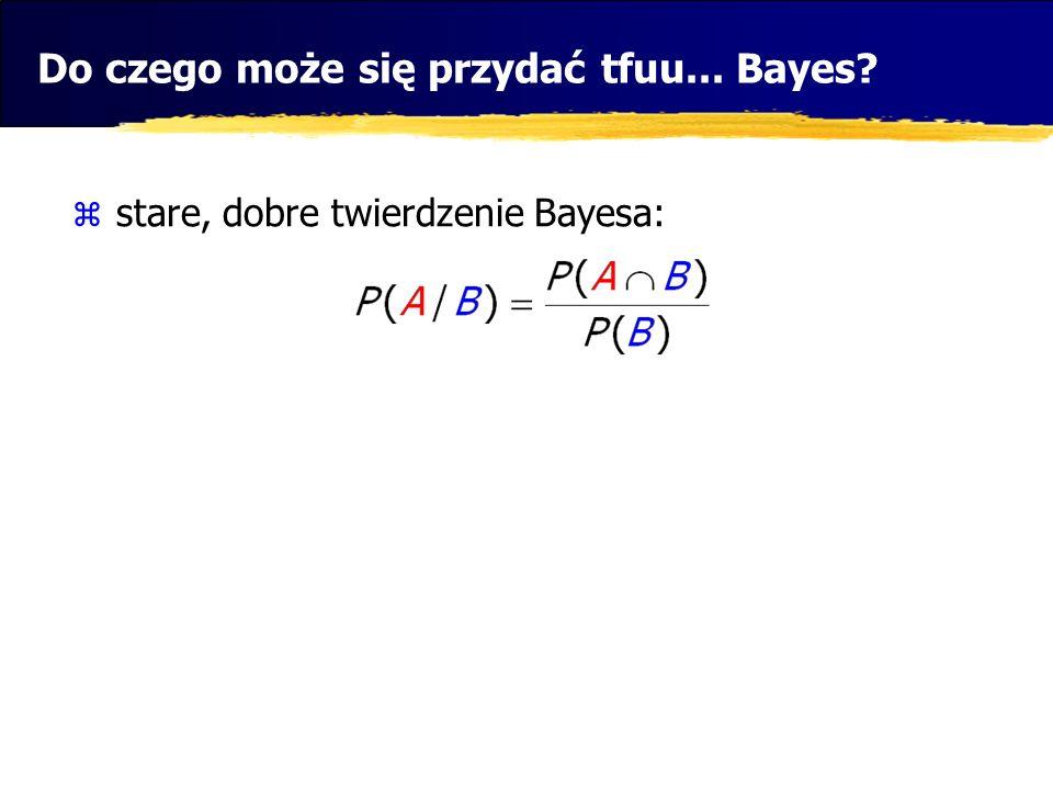 Do czego może się przydać tfuu... Bayes